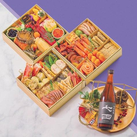 """Osechi Jewel Box """"Miyabi"""" 3-layer"""