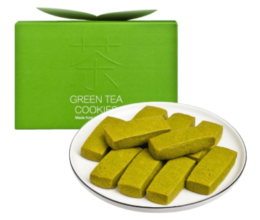 green tea cookie semi sweet