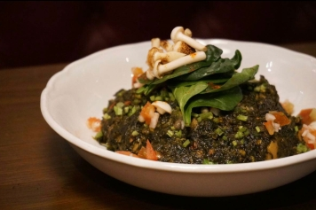 菠菜蘑菇青豆咖喱