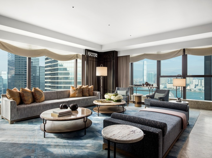 St. Regis Hong Kong, Presidential Suite, Living Room, Day, Harbour View