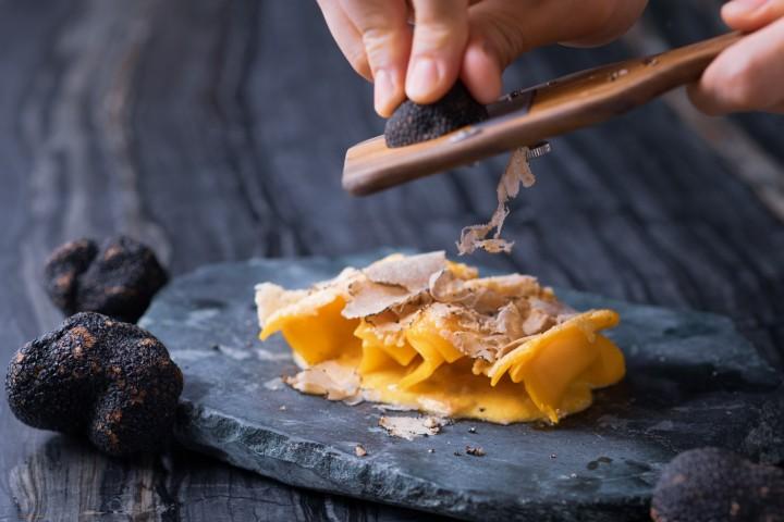 Crispy Black Truffle Carbonara Gyoza